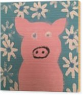 Sponge Pig Wood Print