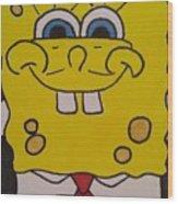 Sponge Square Yellow Brown Pants Cartoon Wood Print