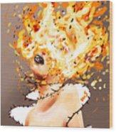 Spontaneous Combustion Wood Print