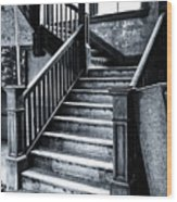 Spooky Grand Staircase Wood Print