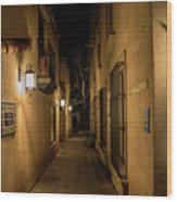 Spooky Hallway Wood Print