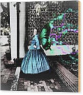 Spooky Historic Butterfly Dahlonega  Wood Print