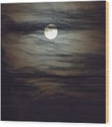 Spooky Moon Wood Print