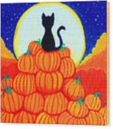Spooky The Pumpkin King Wood Print