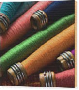 Spools Of Thread Wood Print