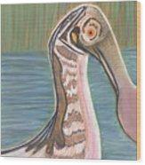Spoonbill Wood Print