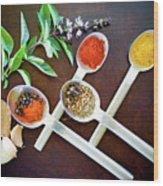 Spoons N Spices 3 Wood Print