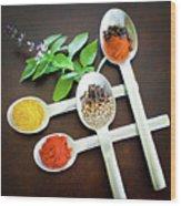 Spoons N Spices Wood Print