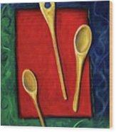 Spoons Wood Print