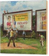 Sport - Baseball - America's Past Time 1943 Wood Print