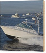 Sportfishing Boats - Cabo San Lucas Wood Print