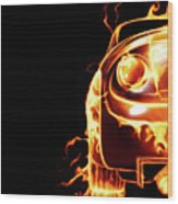 Sports Car In Flames Wood Print by Oleksiy Maksymenko