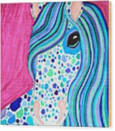 Spotted Horse Wood Print