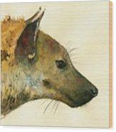 Spotted Hyena Animal Art Wood Print