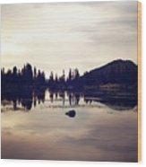 Sprague Lake At Sunset Wood Print