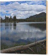 Sprague Lake Cloud Reflection Wood Print
