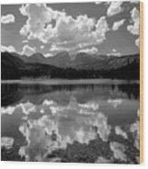 310204-bw-sprague Lake Reflect Bw  Wood Print