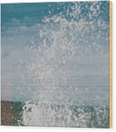Spray In The Bay Wood Print