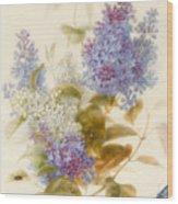 Spray Of Lilac Wood Print