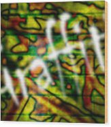 Spray Painted Graffiti Wood Print