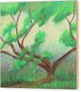 Spring Green Wood Print