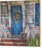 Spring - Door -  A Bit Of Blue  Wood Print