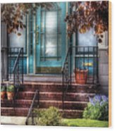 Spring - Door - Apartment Wood Print by Mike Savad