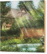 Spring - Garden - The Pool Of Hopes Wood Print
