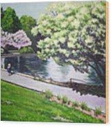 Spring At Snug Harbor Wood Print