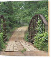 Spring At The Old Bridge Wood Print