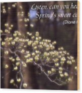Spring Blossoms Poster Wood Print
