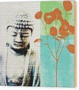 Spring Buddha Wood Print by Linda Woods