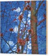 Spring Buds Wood Print