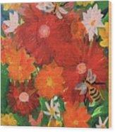 Bumble Bees Wood Print