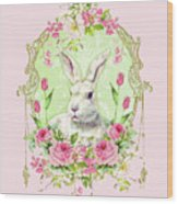 Spring Bunny Wood Print by Wendy Paula Patterson