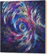Spring Caught In The Maelstrom Wood Print