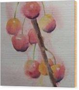 Spring Cherries Wood Print