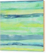 Spring Colors Pattern Horizontal Stripes Wood Print