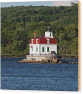 Spring Evening At Esopus Lighthouse Wood Print