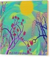 Spring Fantasy Wood Print