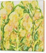 Spring Fantasy Foliage Wood Print