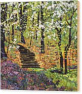 Spring Fantasy Forest Wood Print