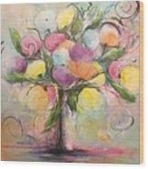 Spring Fling Flowers In A Vase Wood Print