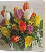 Spring Flowers Wood Print by Sandy Keeton