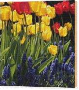 Spring Flowers Square Wood Print