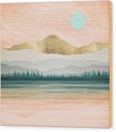 Spring Forest Lake Wood Print
