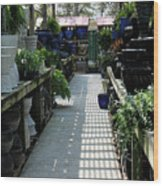 Spring Garden Center Wood Print