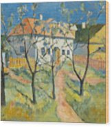 Spring  Garden In Bloom My Reproduction Of Malevichs Work Wood Print