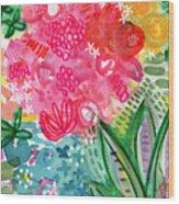 Spring Garden- Watercolor Art Wood Print