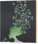 Spring Girl Wood Print